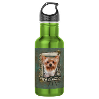 Fathers Day - Stone Paws - Yorkshire Terrier Water Bottle