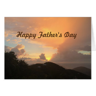 """Father's Day sunrise from """"us"""" Greeting Card"""