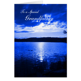 Father's Day Sunset Sky Blue - For Grandfather Card