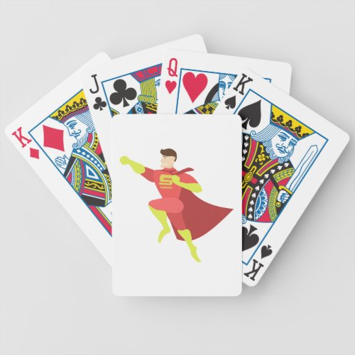 Fathers Day Super Dad Daddy Father Fatherhood Hero Bicycle Playing Cards