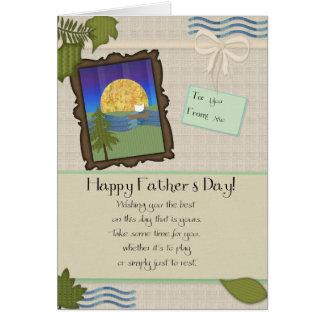 Fathers Day Tan Greeting Card