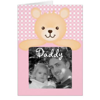 Father's Day Teddy Bear Photo Card