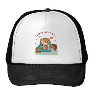 Father's Day Teddy Trucker Hat