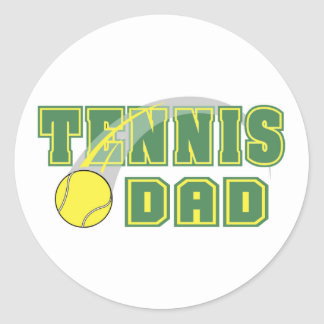 Father's Day Tennis Dad Stickers