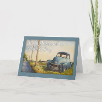 Father's Day, To My Husband, Blue Truck Card
