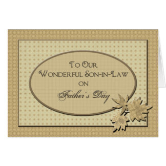 Father's Day - To Our Son-in-Law Card
