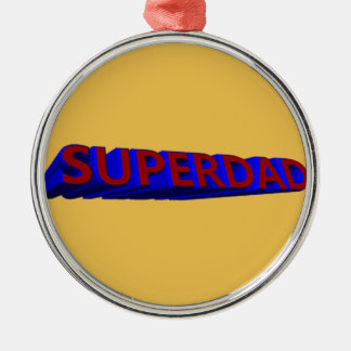 father's day token of appreciation round metal christmas ornament