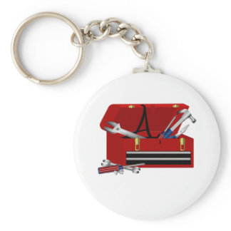 Father's Day Tool Box Initial A Keychain
