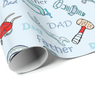 Father's Day Tools Wrapping Paper