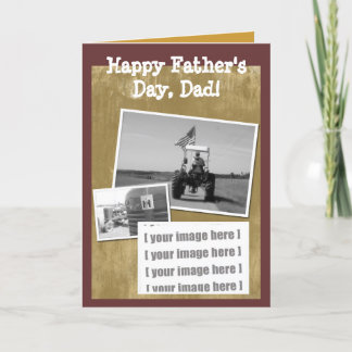 Father's Day Tractor Card: Add your image Card