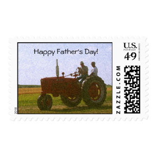 Father's Day Tractor Stamp
