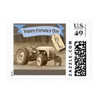 Father's Day Tractor Stamps