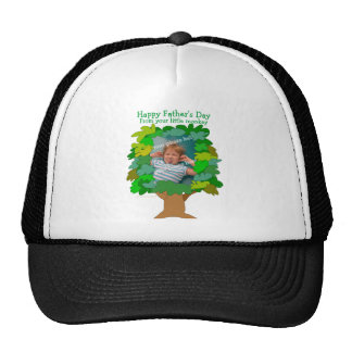 Fathers Day Tree Customizable Photo Hat Template