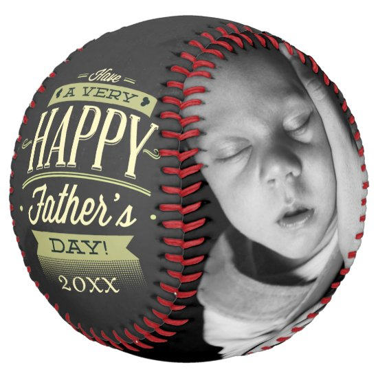 Fathers Day Unique Personalized Green Black Softball
