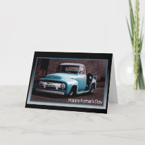 Father's Day - Vintage Blue Pickup Truck Card