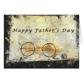 Father's Day, vintage, eyeglasses black and white Card
