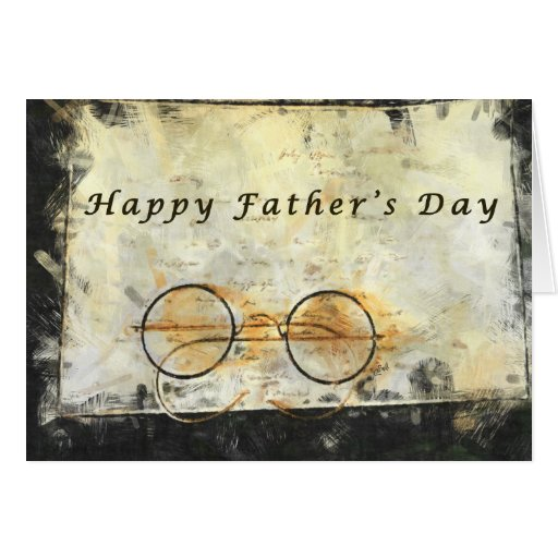 Father's Day, vintage, eyeglasses black and white Card ...