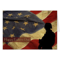 Father's Day Vintage Military Card