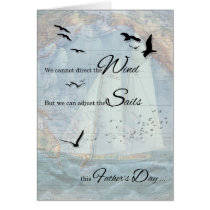 Father's Day   Vintage Nautical Theme Card