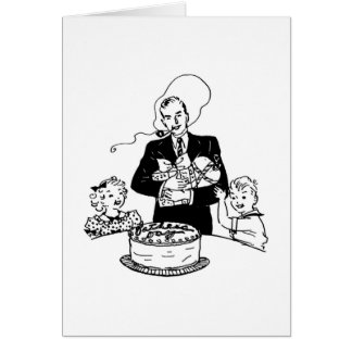 Father's Day Vintage Note Card