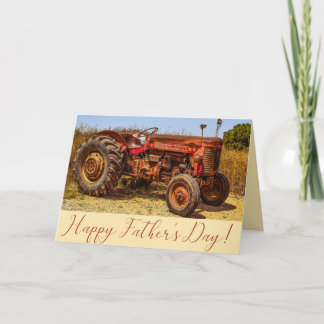 Father's Day Vintage Tractor Card