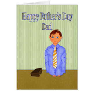Fathers Day, wants to be like dad Card