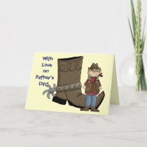 Father's Day -  Western Boot and Spur Card