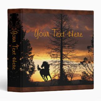 Father's Day Wild Horse Sunset Photo Album Vinyl Binders