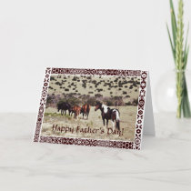 Father's Day: wild horses Card