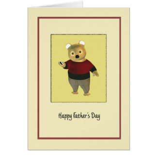 Father's Day with a cute Bear Card