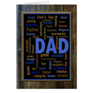 Father's Day Word Collage Card