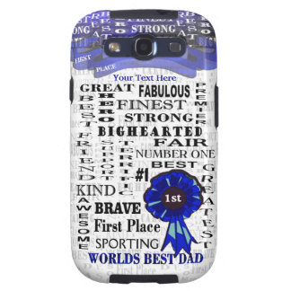 Fathers Day Word Collage Samsung Galaxy S3 Vibe Samsung Galaxy S3 Cases