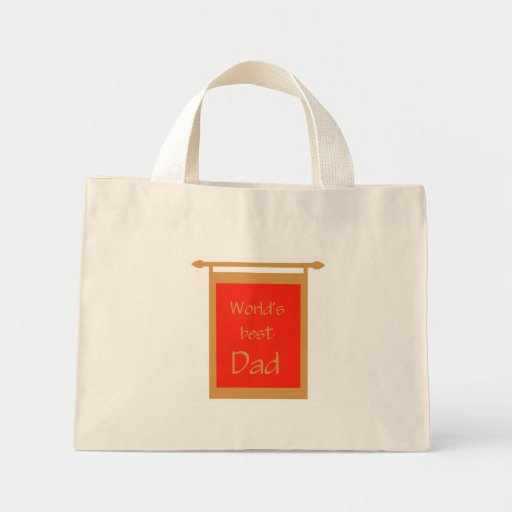 Father's Day World's Best Dad Banner Tote Bags