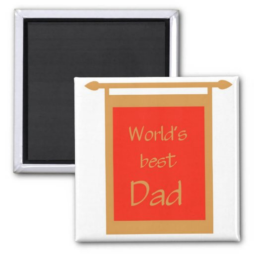 Father's Day World's Best Dad Banner Fridge Magnets