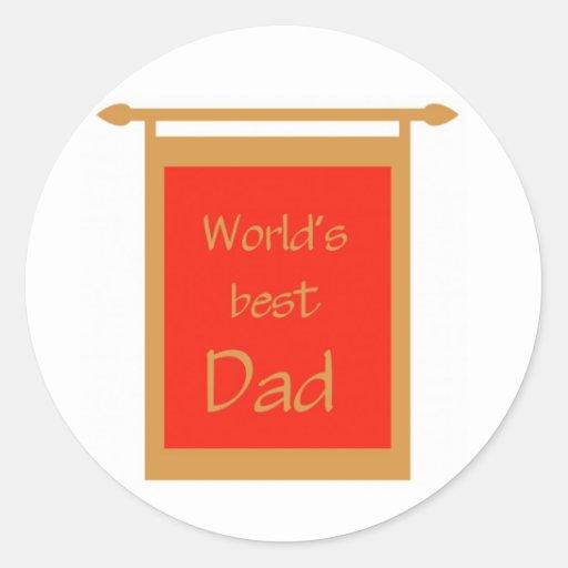 Father's Day World's Best Dad Banner Sticker
