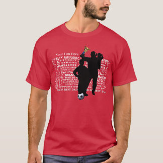 Fathers Day Worlds Best Dad Collage T-Shirt