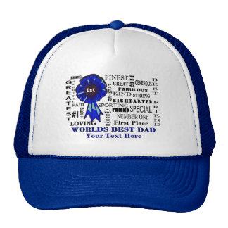 Fathers Day Worlds Best Dad Collage Trucker Hat