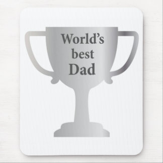Fathers Day Worlds Best Dad Cup Mouse Pad