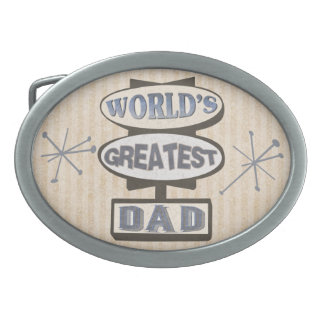 Fathers Day World's Greatest Dad Retro Belt Buckle