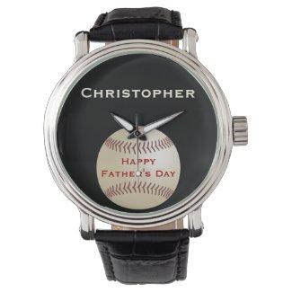 Father's Day Wrist Watch, Personalized, Baseball