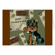 FATHER'S DAY YORKIE  POO CARD