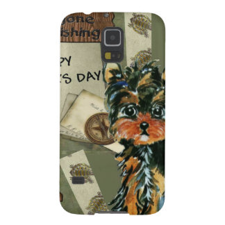 FATHER'S DAY YORKIE  POO CASE FOR GALAXY S5