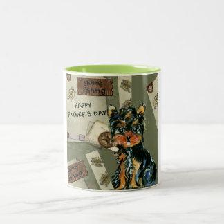 FATHER'S DAY YORKIE  POO Two-Tone COFFEE MUG