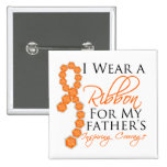 Father's Inspiring Courage - Leukemia Buttons