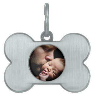 Father's Kiss Pet Name Tag