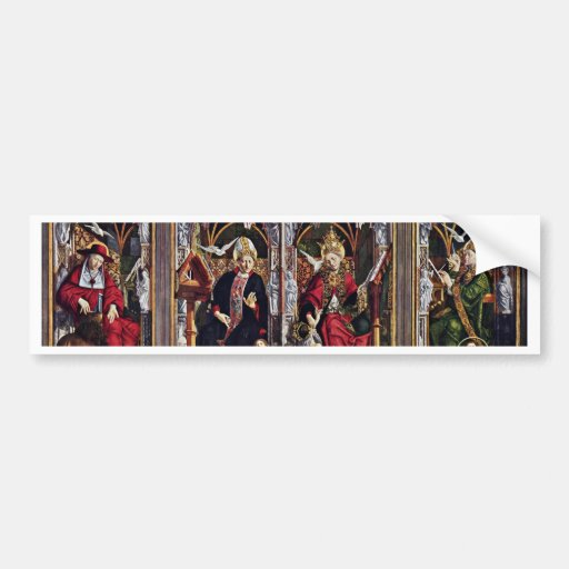 Fathers Of The Church Altar Overview By Pacher Bumper Sticker