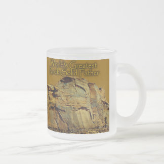 Father's Rock-Solid Gold Beer Stein Coffee Mugs