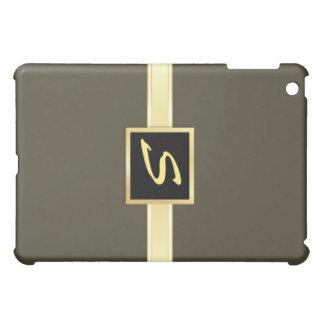Fatigue Green - Gold Monogram iPad Case