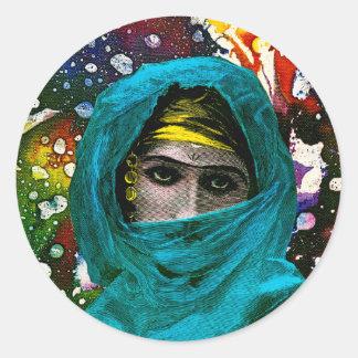 Fatima by Michael Moffa Classic Round Sticker