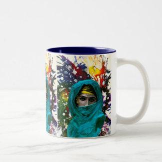 Fatima by Michael Moffa Two-Tone Coffee Mug